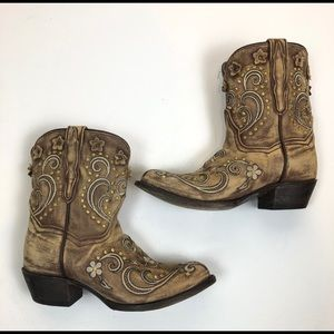 dan post 5331 womens floral embroidered boots 7.5